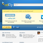adfly Homepage Screenshot