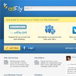 adfly Homepage Screenshot