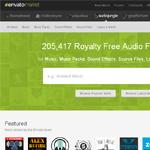 AudioJungle Homepage Screenshot