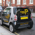 Car With Adverts On