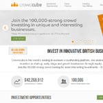 CrowdCube Homepage Screenshot