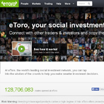 eToro Homepage Screenshot