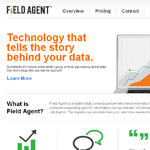 FieldAgent Homepage Screenshot
