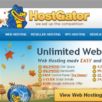Hostgator Homepage Screenshot