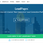 Leadpages Homepage Screenshot
