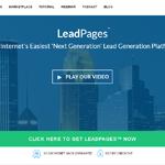 Leadpages Homepage Screenshot