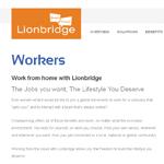 Lionridge Homepage Screenshot