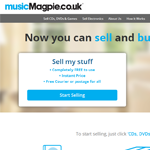 Music Magpie Homepage Screenshot