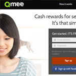Qmee Homepage Screenshot