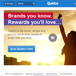 Quidco Homepage Screenshot