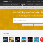 VideoHive Homepage Screenshot