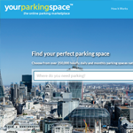 YourParkingSpace Homepage Screenshot