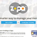 Zopa Homepage Screenshot