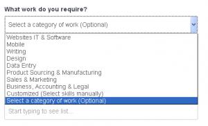 Different job types on Freelancer