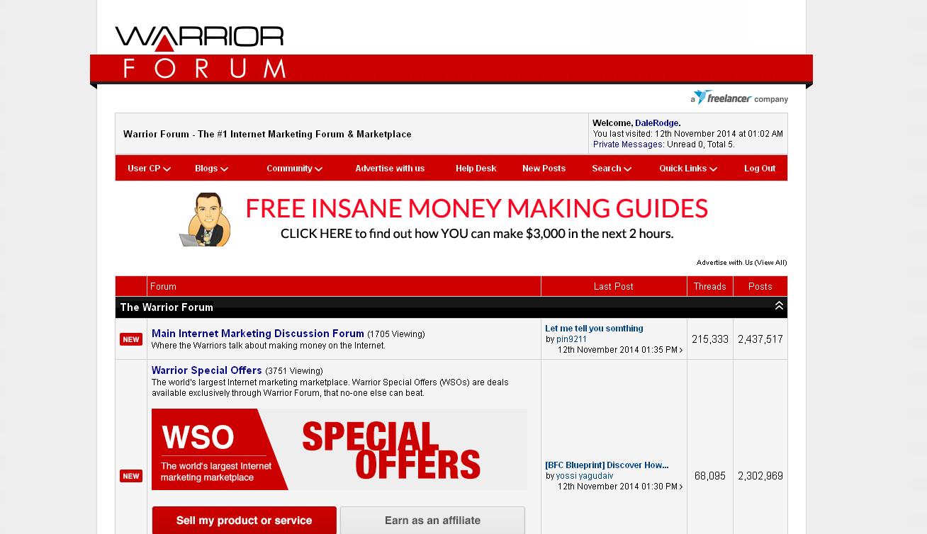 Warrior Forum Advertising