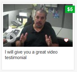Fiverr Testimonial