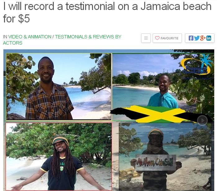 Jamaica Testimonial on Beach
