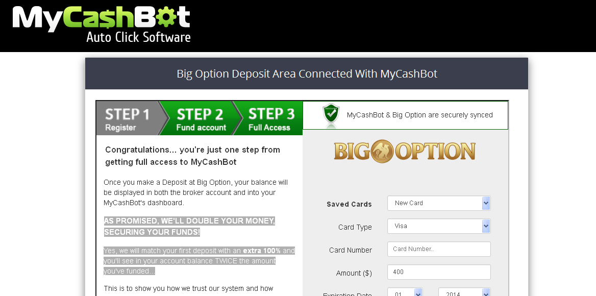 My Cash Bot Payment Page