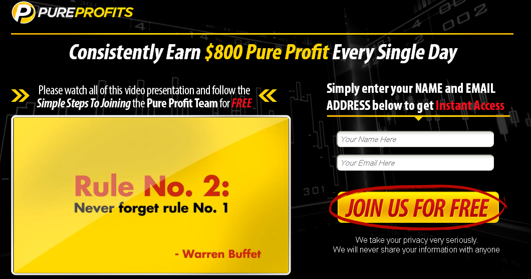 Pure Profits Homepage