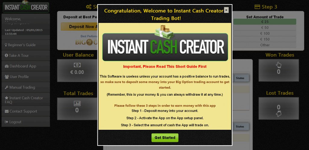 Instant Cash Creator System
