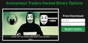 Anonymous Traders Homepage Screenshot