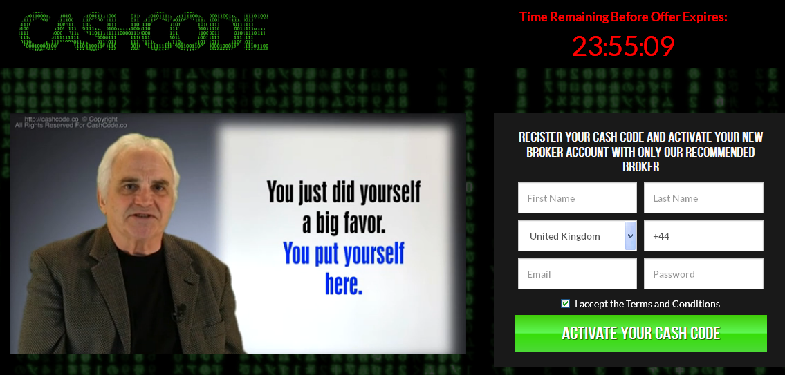 Cash Code Website