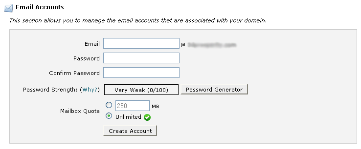 cPanel Email Account Setup