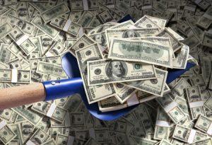 Shovelling Money