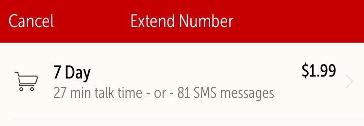 Hushed Extend Number