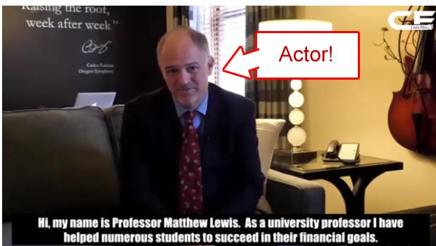 Professor Lewis Actor