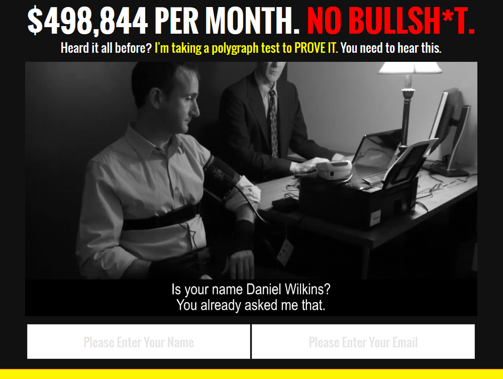 Polygraph Millionaire Homepage