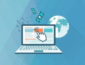 Image of Laptop & Money Representing Making Money Online