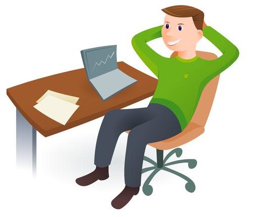 Affiliate Man At Computer