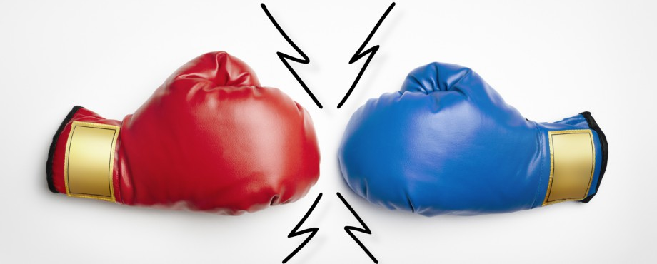Red Boxing Glove vs Blue Boxing Glove