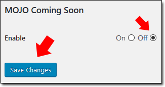 Wordpress Coming Soon