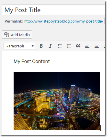 Wordpress Add Image Example