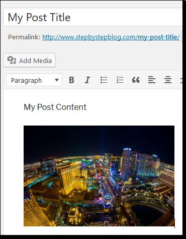 Wordpress Add Image Example