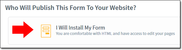 AWeber Install My Form