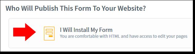 AWeber Install My Form