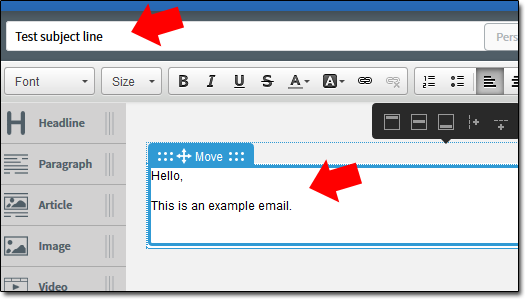 AWeber Email Editor