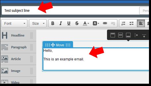 AWeber Email Editor