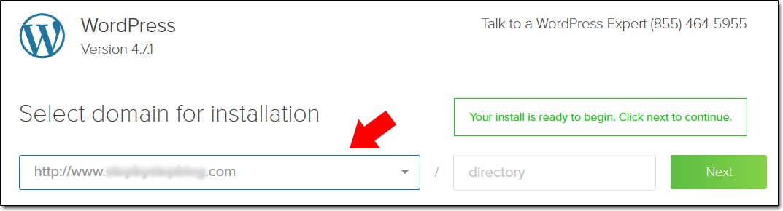 Bluehost WordPress Install