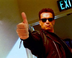 Arnold Schwarzenegger Giving Thumbs Up