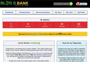 Blog and Bank Dashboard
