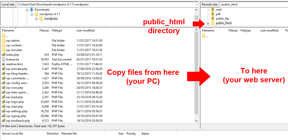 Copying Files With FileZilla