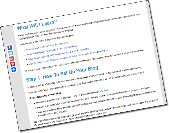 Step By Step Guide To Blogging