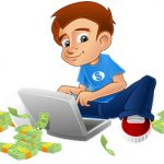 Young Man Making Money From Laptop