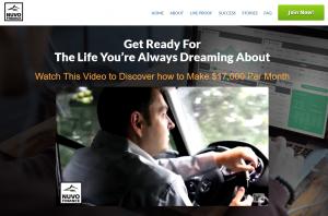 Nuvo Finance Homepage Screenshot