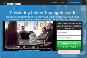 United Trading Homepage Screenshot