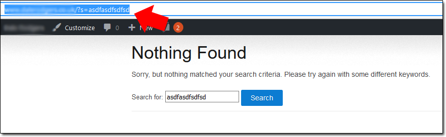 WordPress Nothing Found Page